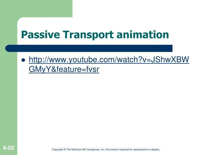 Passive Transport animation