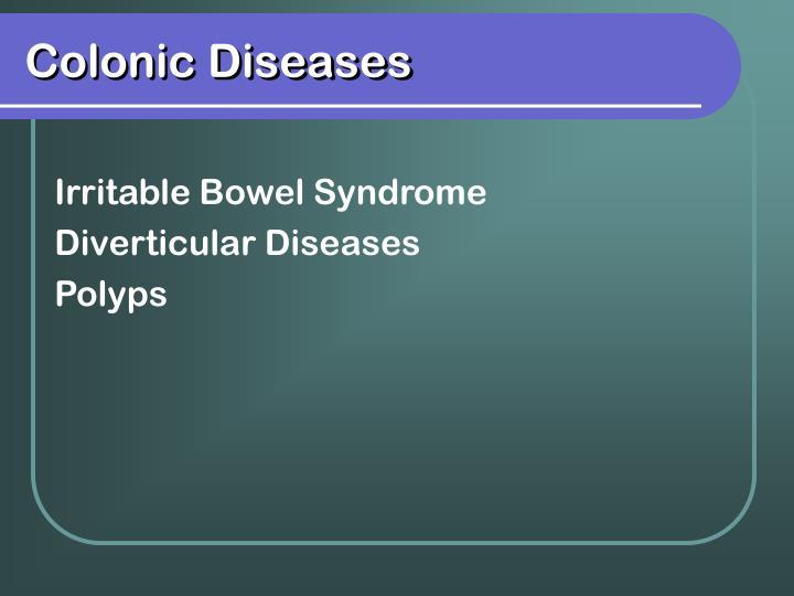Colonic Diseases