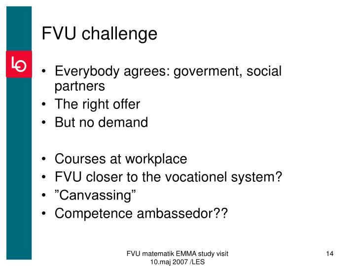 FVU challenge