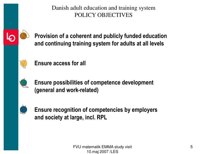 Danish adult education and training system