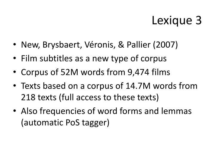 Lexique 3