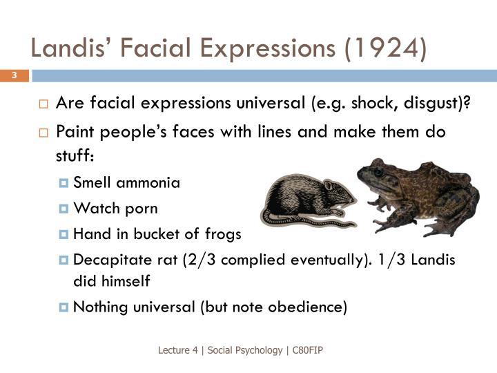 Landis' Facial Expressions (1924)