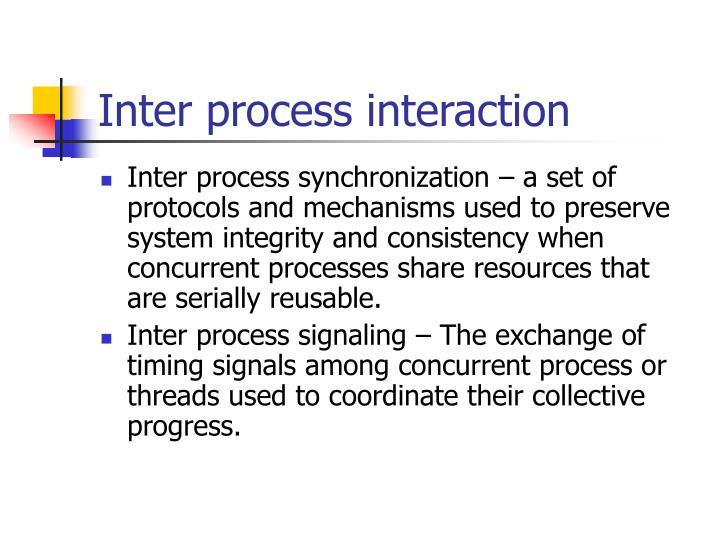Inter process interaction