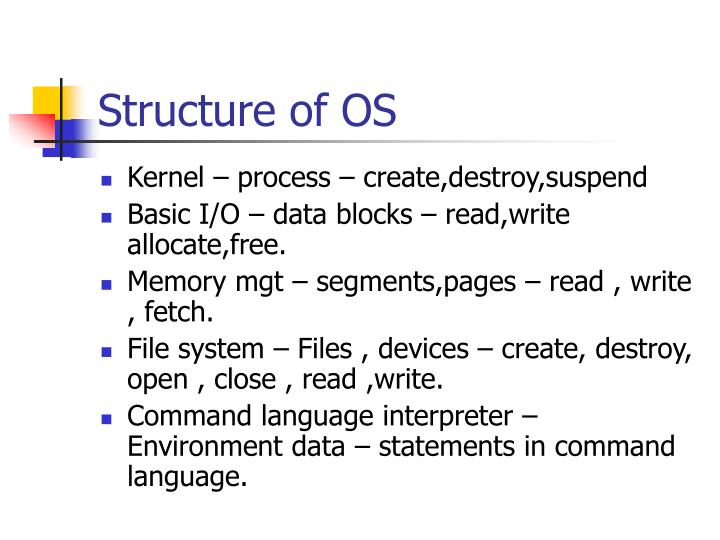 Structure of OS