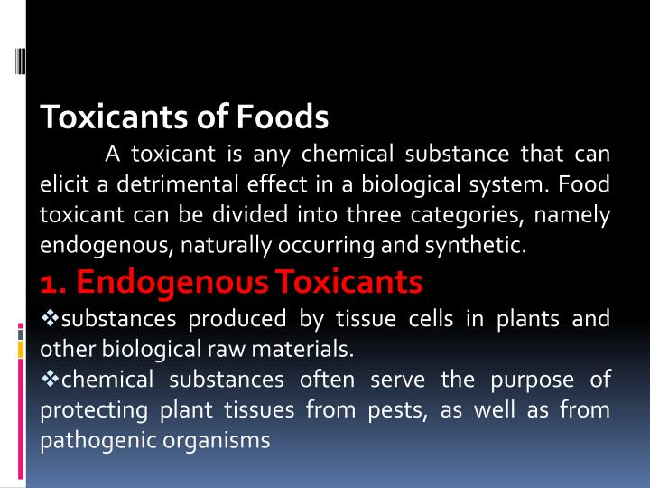 Toxicants of Foods