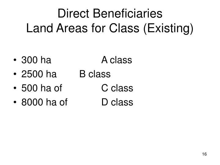 Direct Beneficiaries