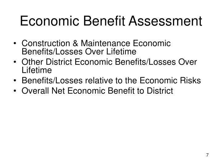 Economic Benefit Assessment
