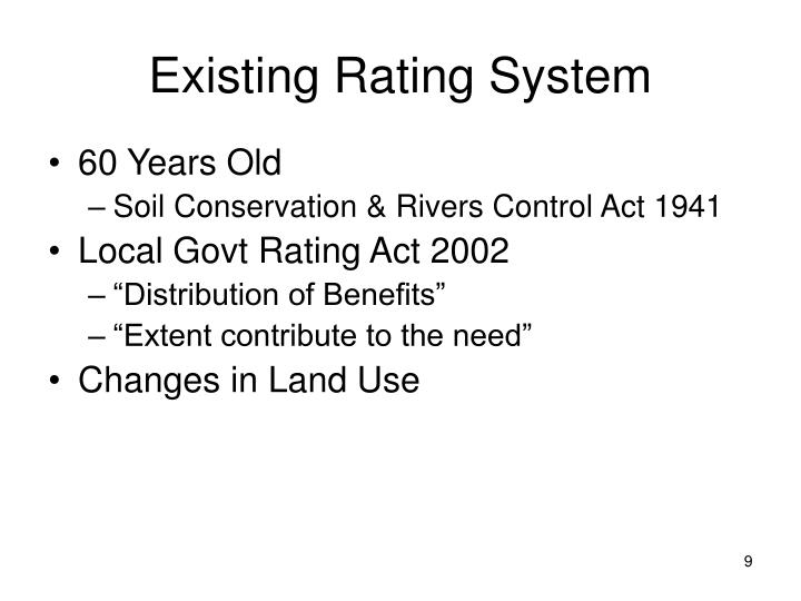 Existing Rating System