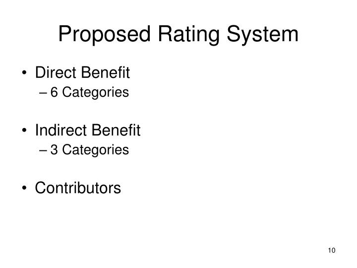 Proposed Rating System