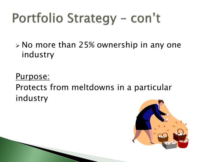 Portfolio Strategy –