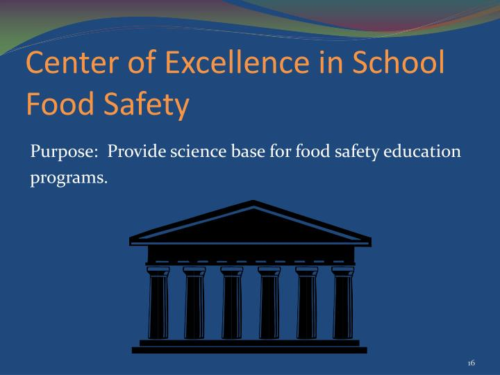 Center of Excellence in School Food Safety