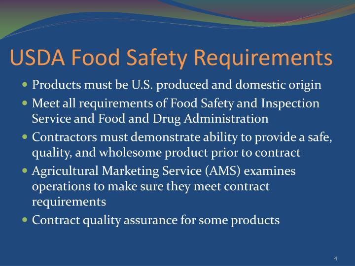 USDA Food Safety Requirements