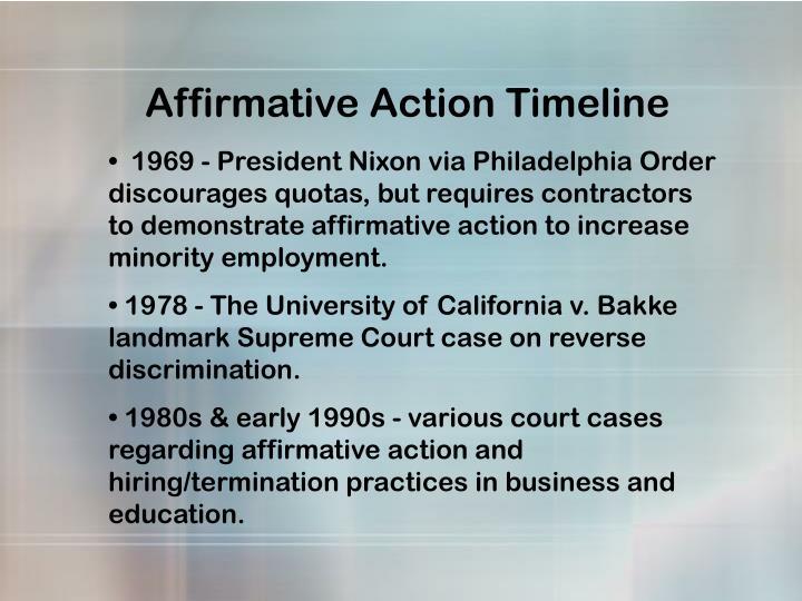 Affirmative Action Timeline