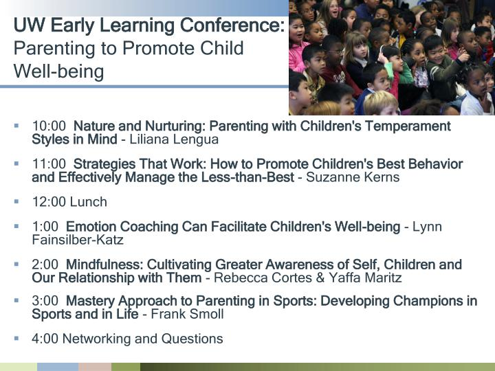 UW Early Learning Conference: