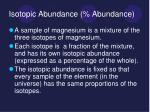 isotopic abundance abundance