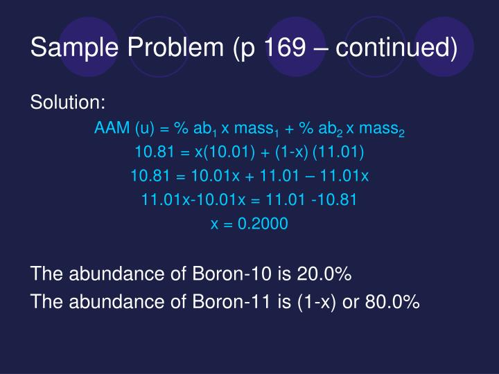 Sample Problem (p 169 – continued)