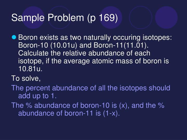 Sample Problem (p 169)