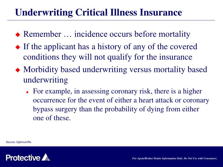Underwriting Critical Illness Insurance