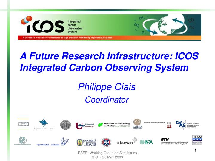 A Future Research Infrastructure: ICOS