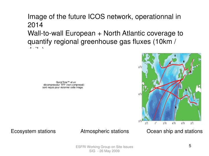 Image of the future ICOS network, operationnal in 2014