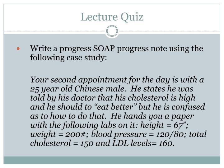 Lecture Quiz