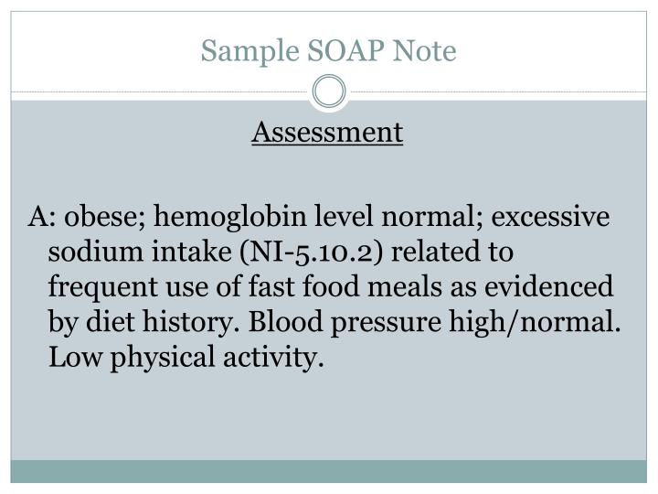 Sample SOAP Note