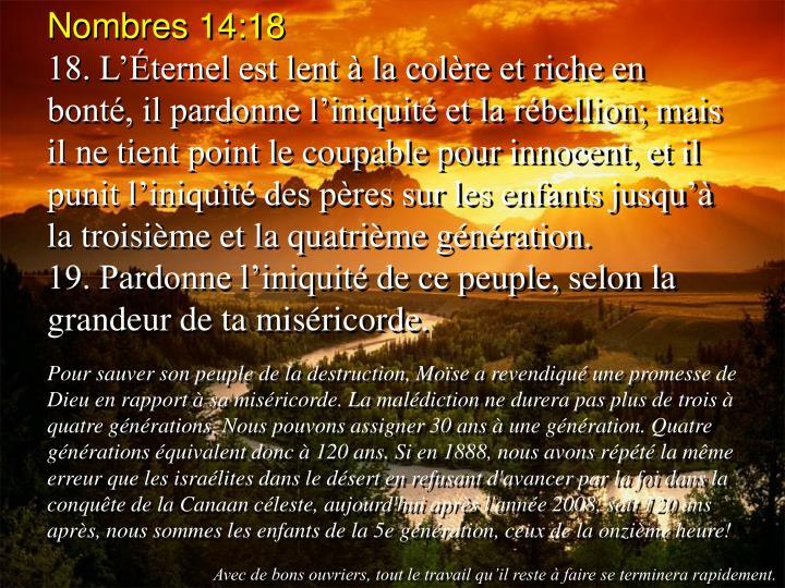 Nombres 14:18