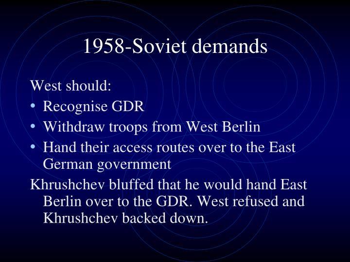 1958-Soviet demands