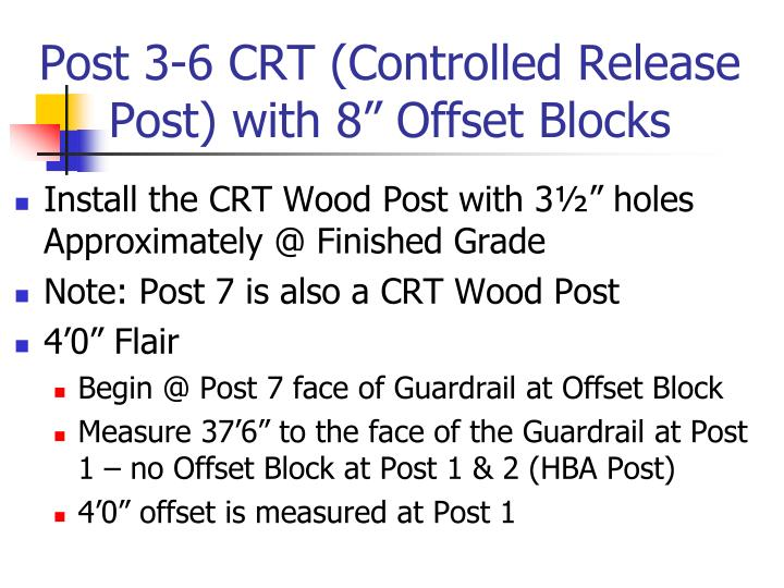 "Post 3-6 CRT (Controlled Release Post) with 8"" Offset Blocks"