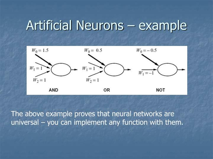 Artificial Neurons – example