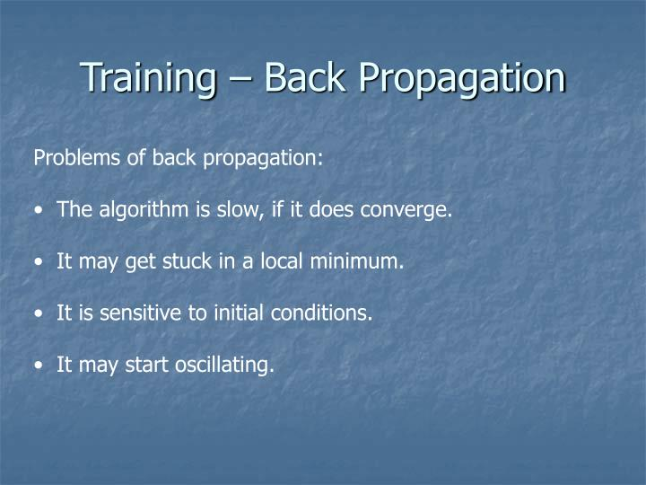 Training – Back Propagation