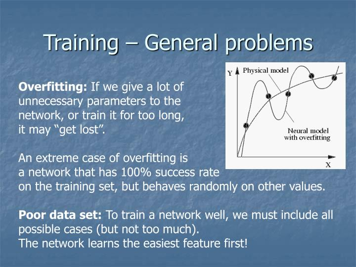 Training – General problems