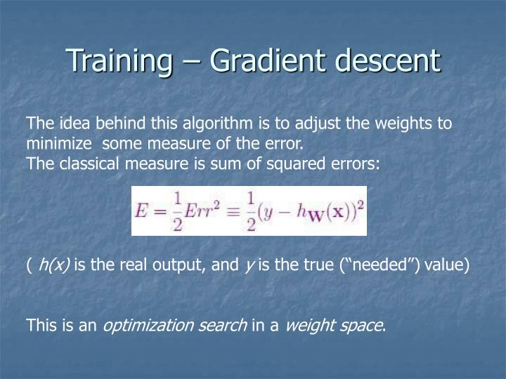 Training – Gradient descent