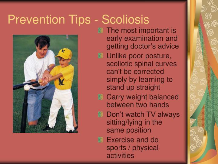 Prevention Tips - Scoliosis