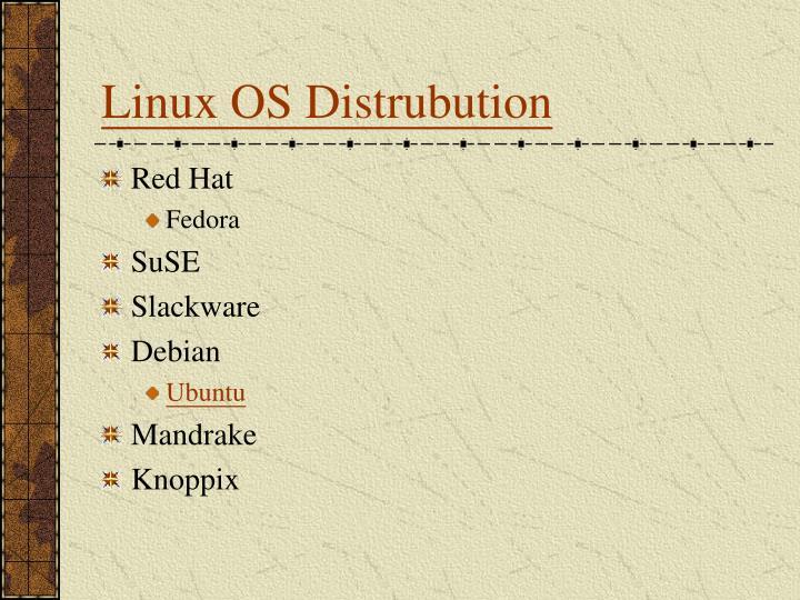 Linux OS Distrubution