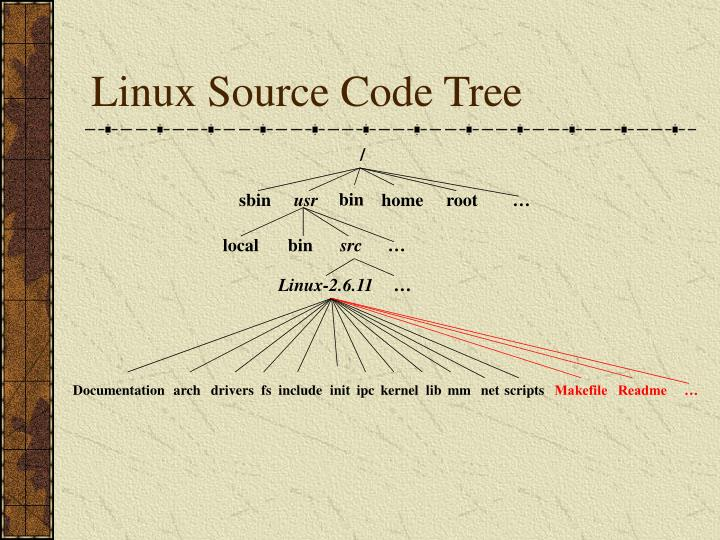 Linux Source Code Tree