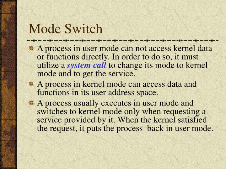 Mode Switch