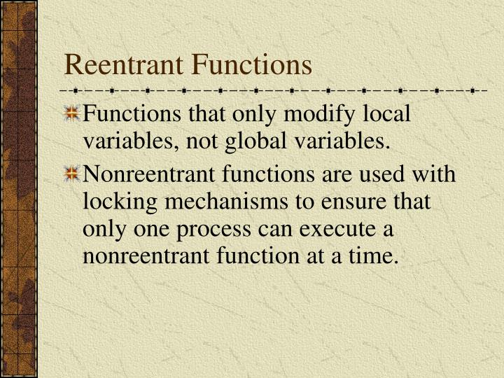 Reentrant Functions