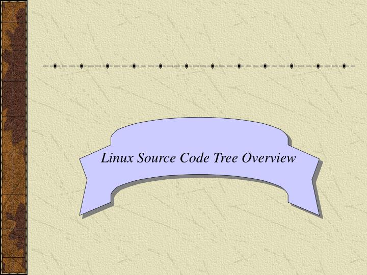 Linux Source Code Tree Overview