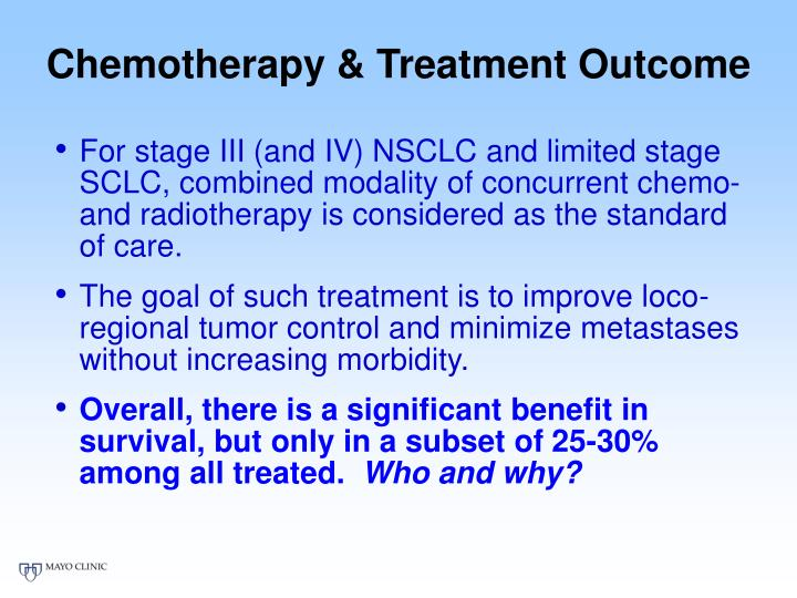 Chemotherapy & Treatment Outcome