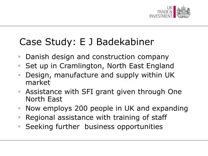 Case Study: E J Badekabiner