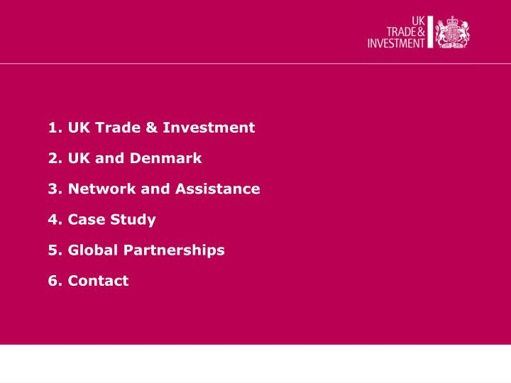 1. UK Trade & Investment