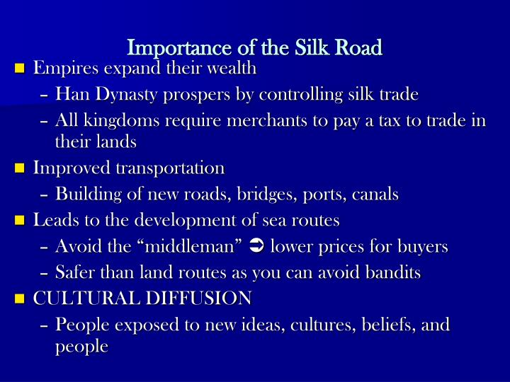 Importance of the Silk Road