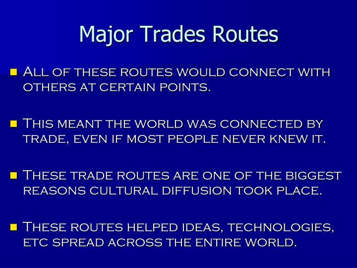 Major Trades Routes