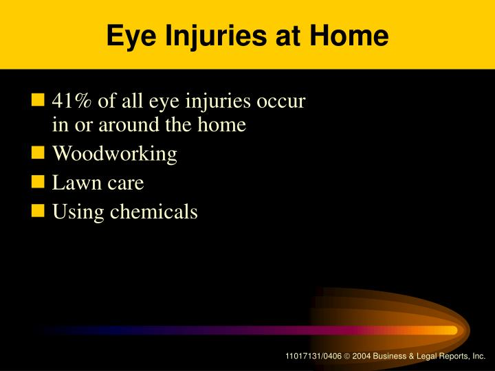 Eye Injuries at Home