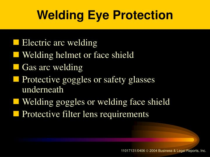 Welding Eye Protection