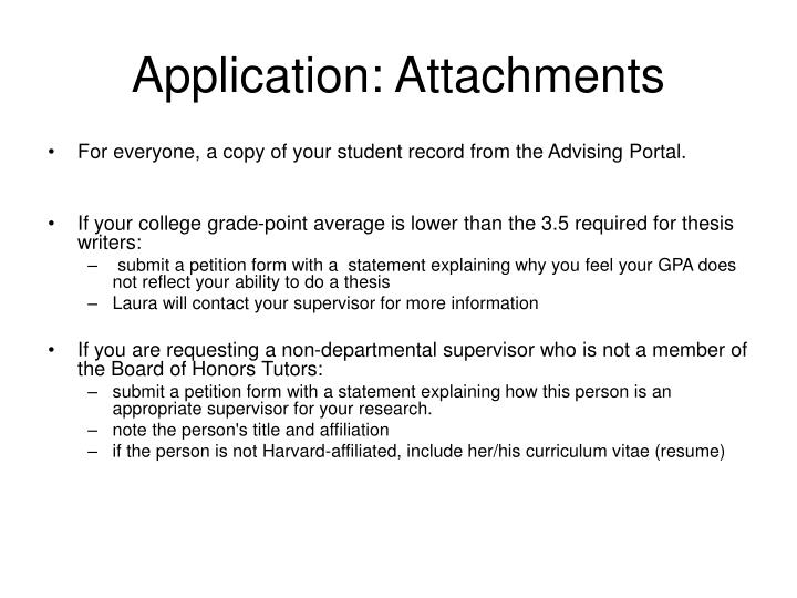Application: Attachments