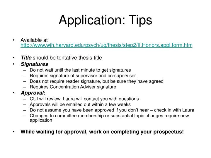 Application: Tips