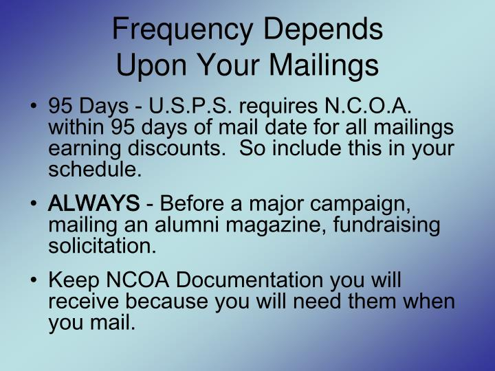 Frequency Depends