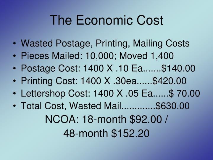 The Economic Cost